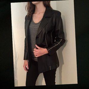 Original Prada women's black leather jacket